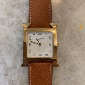 Hermes H Hour Quartz Watch with 3 bands & tool